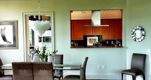 Awesome Minimalist Dining Room Photo In Atlanta