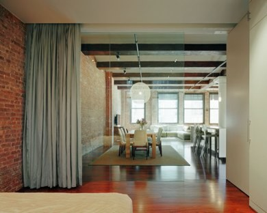 Divide a living room with a bedroom for Split living room dining room ideas