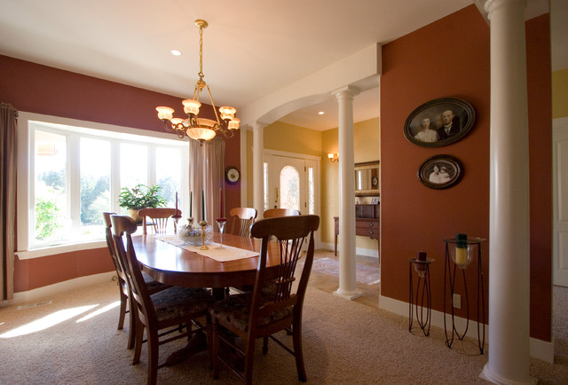 Formal dining room and front entry for a new home we for Dining room entrance designs