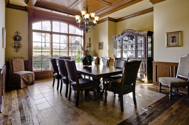 Formal dining room traditional dining room little for Little rock custom home builders