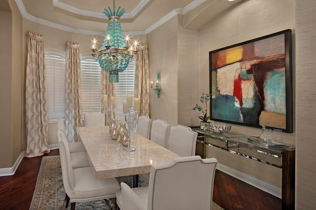 Formal Dining Room Transitional Dining Room Tampa