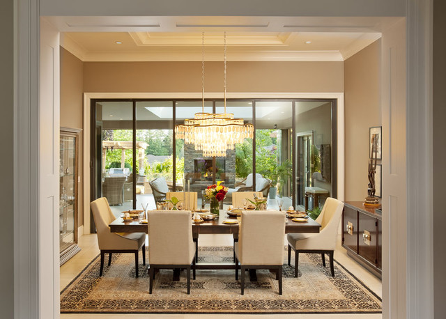 Formal Dining Room Transitional Dining Room