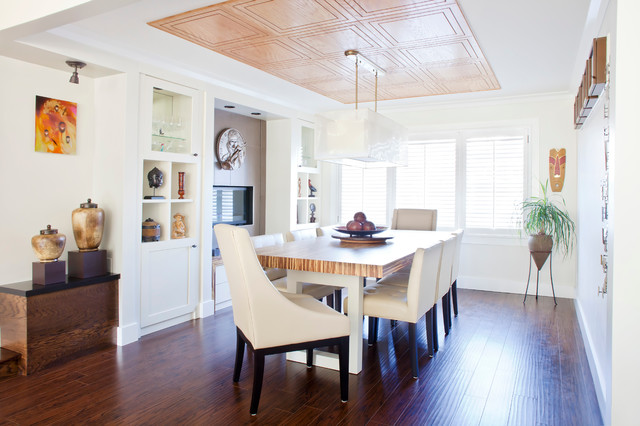 Formal Dining Room Used In A Contemporary Manner Contemporary Dining Room