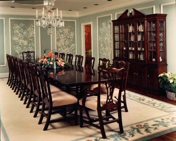 Formal dining room traditional dining room dallas for Traditional dining room