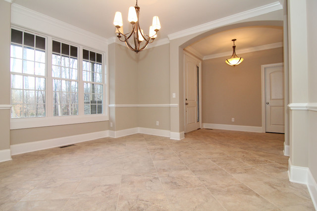 Formal Dining Room With Tile Floorsmodern Raleigh