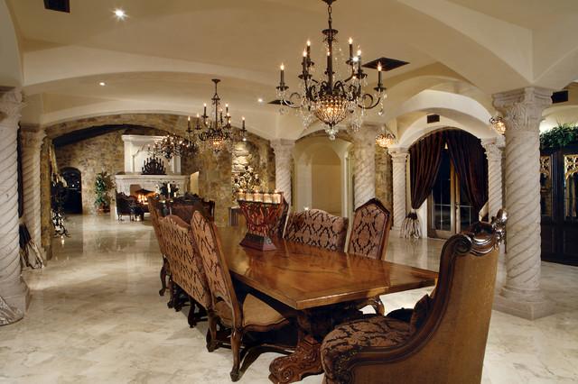 Formal italian estate mediterranean dining room phoenix by