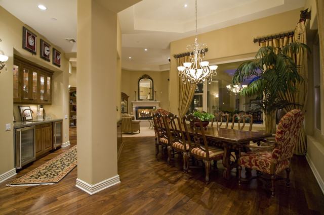 Formal Living Room Dining Room Bar Area Custom Home