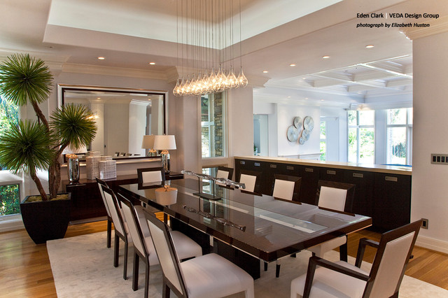 formal modern dining room modern dining room orange county by eden clark of veda design. Black Bedroom Furniture Sets. Home Design Ideas