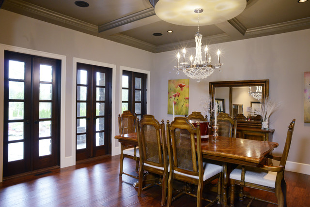 Bluff Transitional Dining Room Vancouver By Monaco Estates