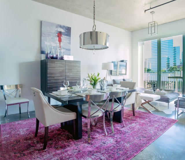Fort Lauderdale Loft Transitional Dining Room Other By Kelly Marie Interior Design
