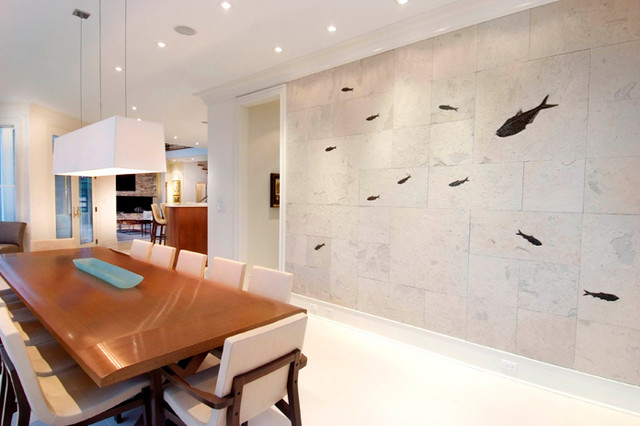 fossil wall art contemporary dining room other metro