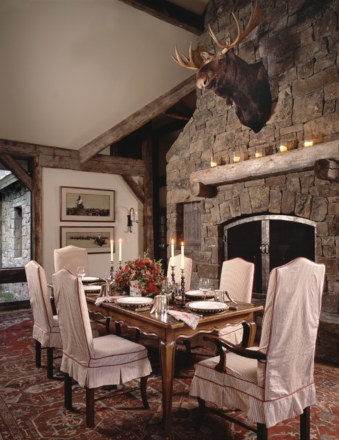 Four Deer Ranch rustic-dining-room