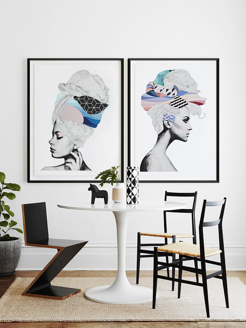 Bon Framed Prints By Framing To A T Framers + Designers Scandinavian Dining Room