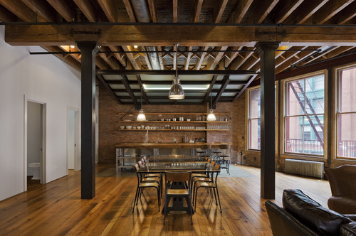 Decoration style industriel for Dining room ideas industrial