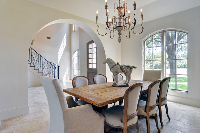contemporary dining room by Braswell Homes Inc