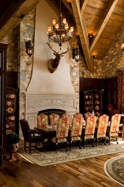 French Chateau Mediterranean Dining Room Minneapolis