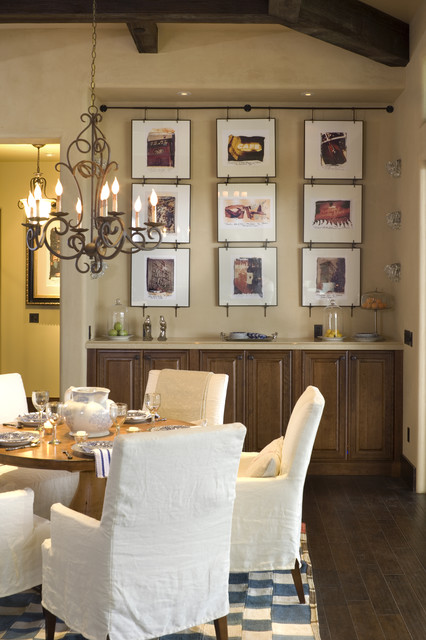 French Country Elegance Rustic Dining Room