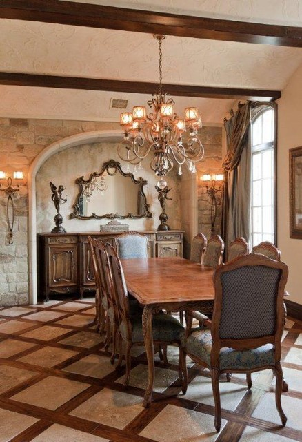 French country estate traditional dining room austin for A dining room in french