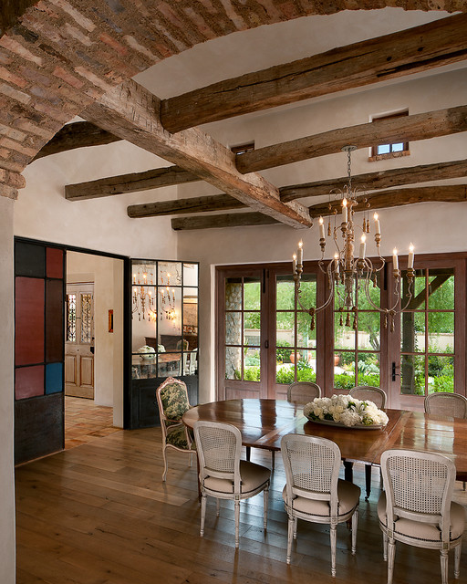 Mediterranean Dining Room: French Country Estate