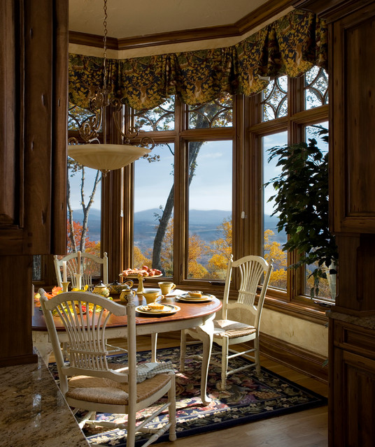 french country gothic mountain traditional dining room charlotte