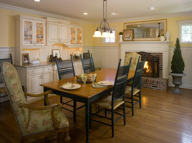 French country kitchen with a twist farmhouse dining for Country kitchen dining room ideas