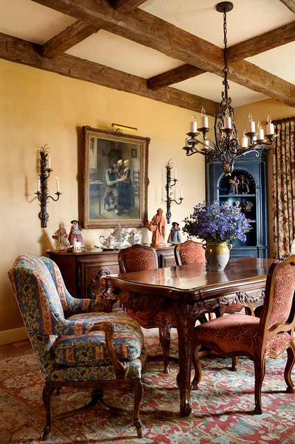 French Farmhouse Kitchen Dining Traditional Room