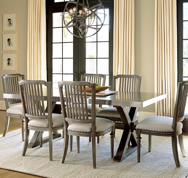 French Industrial Dining Room Design Industrial Dining Room Dallas By Zin Home