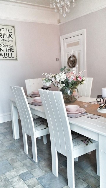 French Inspired Dining Room Shabby Chic Style Dining