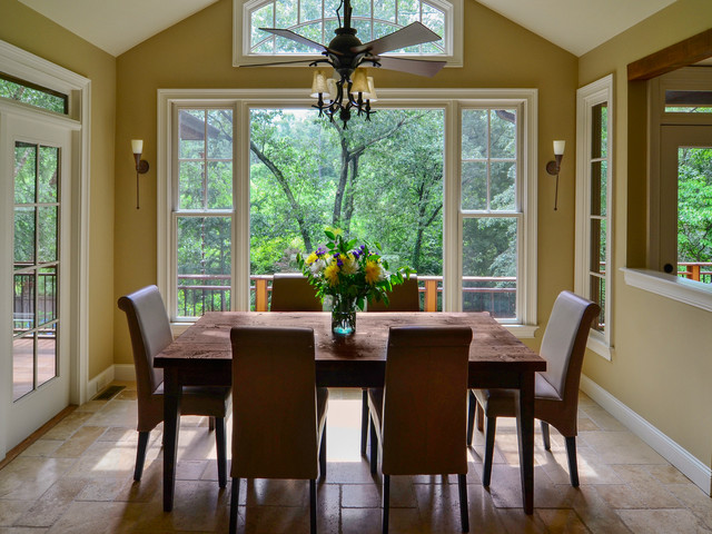 French Inspired Kitchen Traditional Dining Room