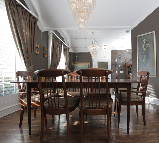 Frisco brad and tiffany eclectic dining room dallas for Makeup by tiffany d dining room