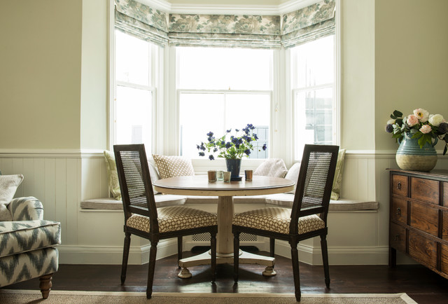 Fulham garden flat traditional dining room london Small dining rooms london