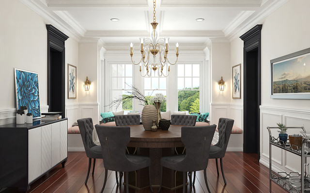 Full House Interior Design Of American Style Contemporary Dining Room Other By Oppein Group Houzz Au