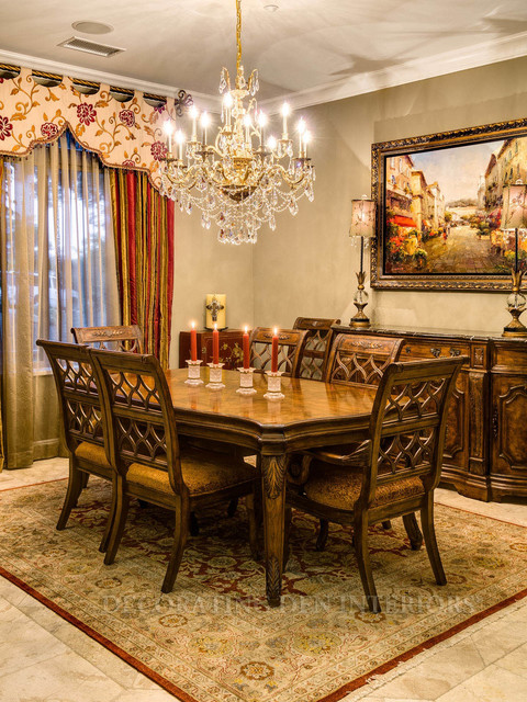 European elegance los angeles california private for Dining room design questions