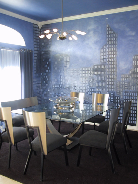 Funky decor contemporary dining room houston by for Funky dining room ideas