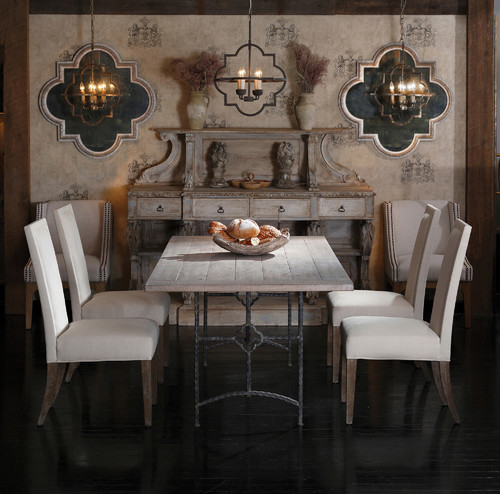 Eclectic Dining Room Tables: Transitional Furniture Showroom