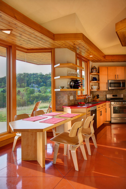 Galena Usonian Midcentury Dining Room Chicago By