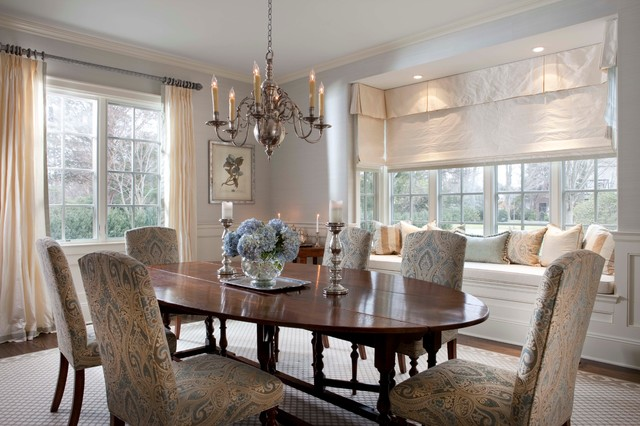 Garden city new york traditional dining room other for Beach glass interior designs