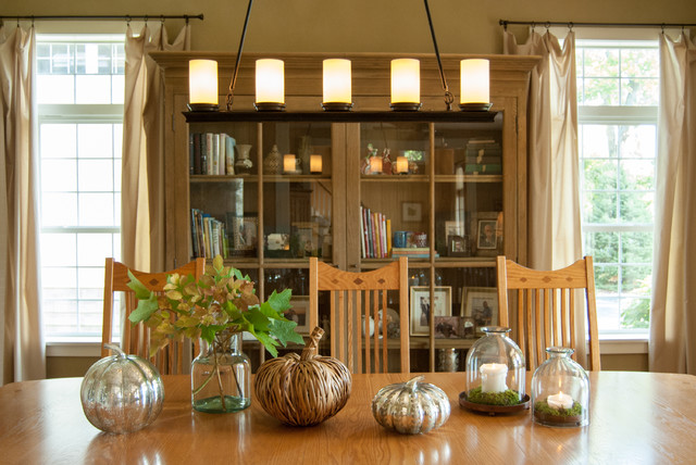 Farmhouse Dining Room by Adrienne DeRosa