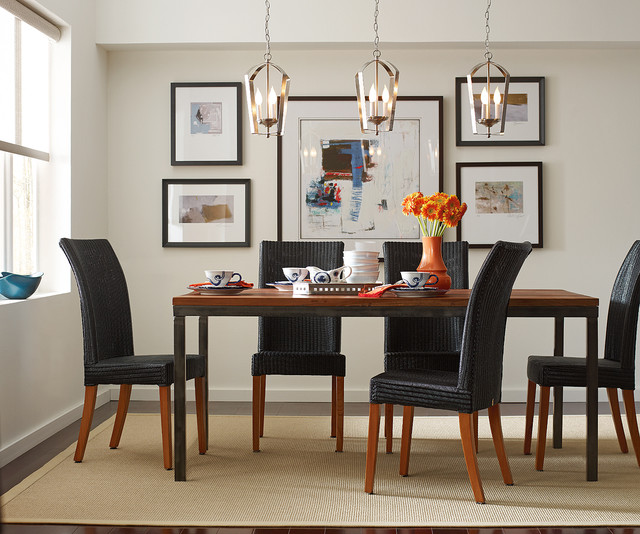 Beau Gather Pendants Over Dining Room Table Contemporary Dining Room