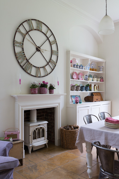 Large wall clocks make a statement town country living for Large dining room wall