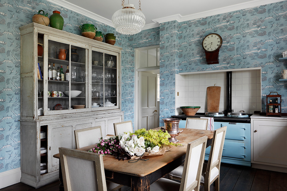 Inspiration for a timeless dining room remodel in Dorset