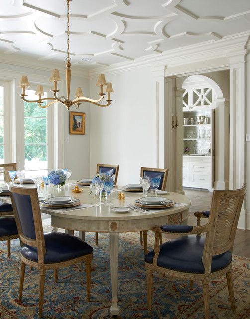 Georgian Residence New Canaan Traditional Dining Room