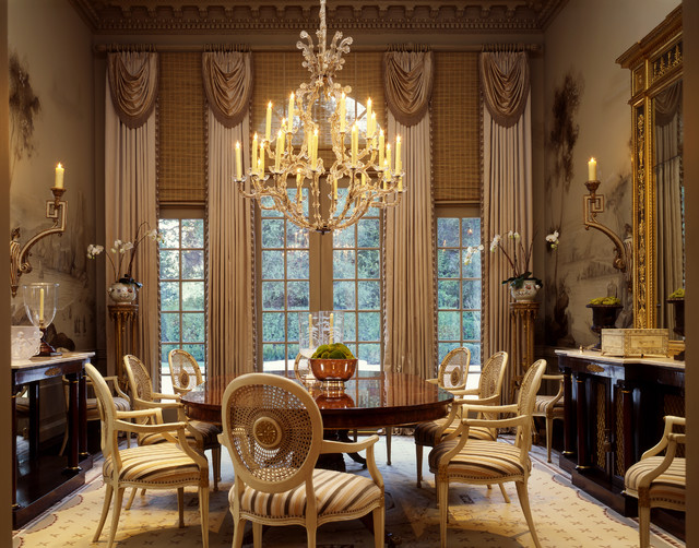 Georgian residence traditional dining room san for Classic dining room ideas