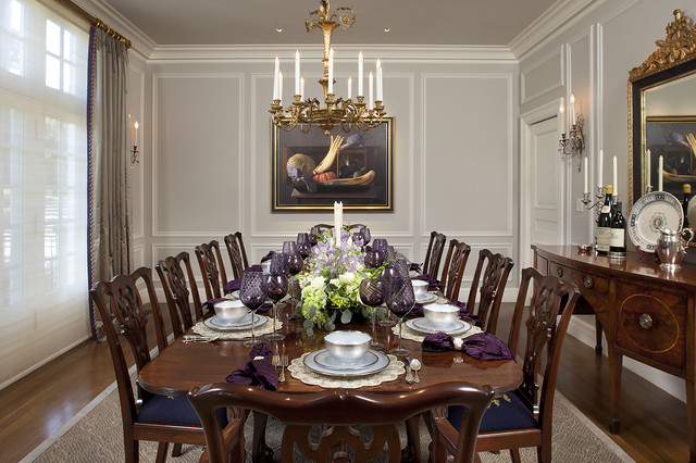 Georgian Restoration American Traditional Dining Room