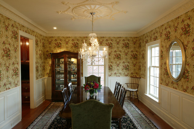 Georgian style new construction traditional dining for Georgian dining room ideas