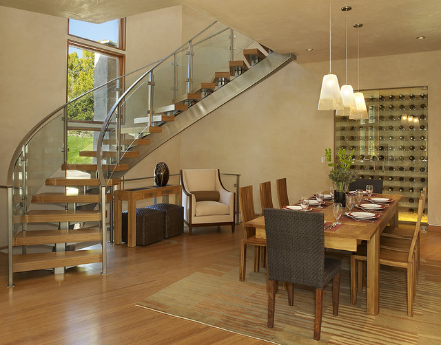 contemporary dining room by David Johnston Architects