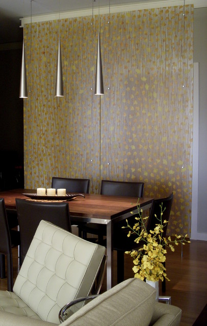 Ginkgo Laminated Divider Panel contemporary-dining-room