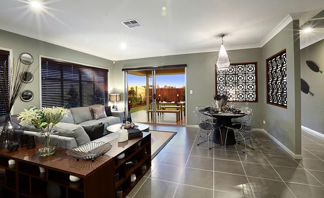 Love ur space interior design · interior designers decorators gj gardner display home caboolture contemporary dining room