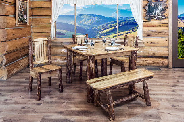glacier country 4 post square dining table rustic dining room by
