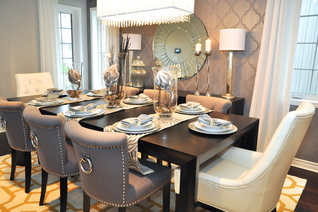 Elegant Glam Chic Dining Room Transitional Dining Room